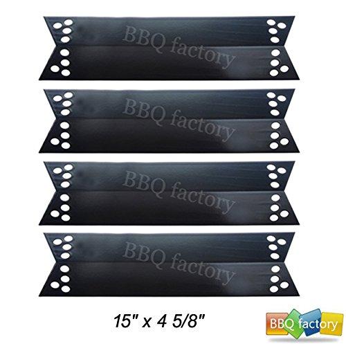 bbq factory JPX681(4-pack) Porcelain Steel Heat Shield / Heat Plate for Charbroil, Kenmore Sears, K-Mart, Nexgrill, Tera Gear Model Grills