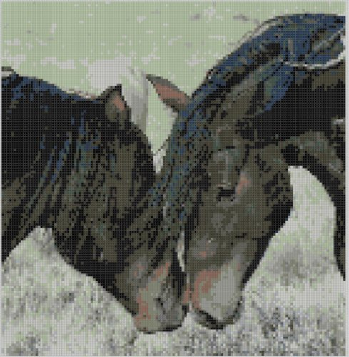 Wild Horses Cross Stitch Pattern (Horse Cross Stitch Charts compare prices)
