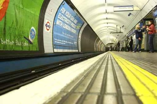 "London Tube - 72""W x 48""H - Peel and Stick Wall Decal by Wallmonkeys"