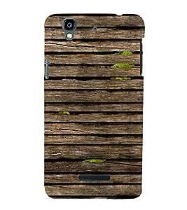 Light Brown Wood 3D Hard Polycarbonate Designer Back Case Cover for YU Yureka :: YU Yureka AO5510
