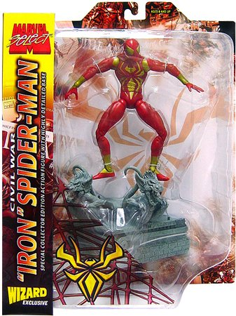 Buy Low Price Wizard Entertainment ToyFare Exclusive Civil War 'Iron' Spider-Man Action Figure (B000LRB57O)