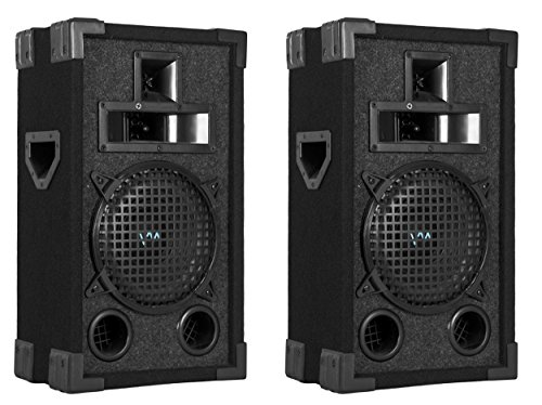 "2) New Vm Audio Vas38P 8"" 400 Watt 3 Way Dj Passive Loud Pa Speaker System Pair"