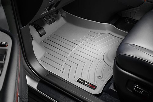 WeatherTech Custom Fit Front FloorLiner for Chevrolet Camaro, Grey (2014 Chevy Camaro Gray Floor Mats compare prices)