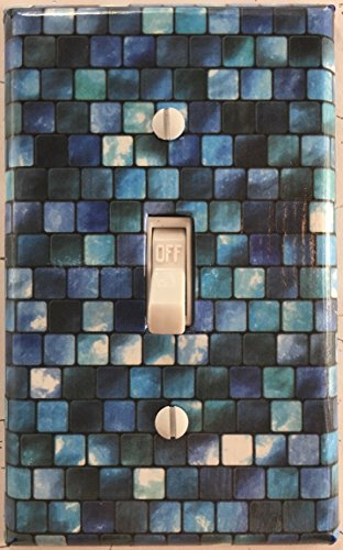 Turquoise Tiles Single Decorative Single Toggle Light Switch Plate Cover