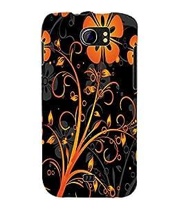 Fuson 3D Printed Floral Design Designer Back Case Cover for Micromax Canvas 2 A110 / A110Q - D928