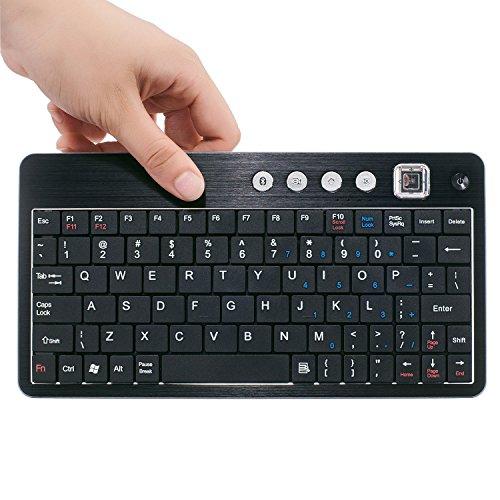 Bluetooth Ultra-Slim Keyboard for iPad Air 2 / Air, iPad Pro, iPad mini 4 / 3 / 2 / 1, iPad 4 / 3 / 2, Galaxy Tabs and Other Mobile Devices (Black)