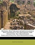 img - for Beitr ge zur Vergleichenden Anatomie und Histologie des Kehlkopfes der S ugetiere, 1907 (German Edition) book / textbook / text book