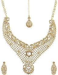 Homeoculture Non-Precious Metal Strand Necklace Set For Women (J18)