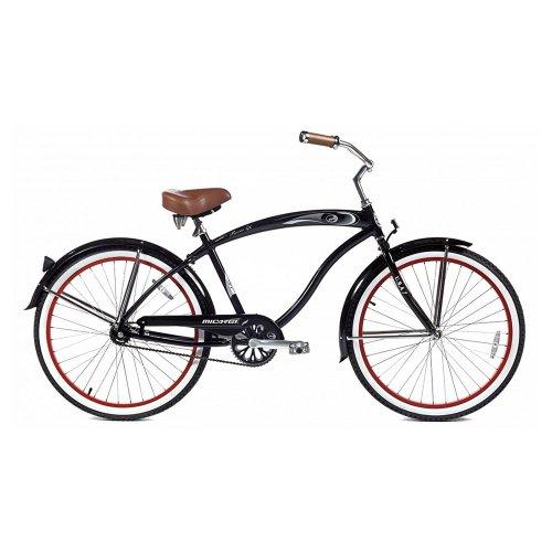 Micargi Rover LX Beach Cruiser Bike, Black, 26-Inch