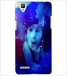 PrintDhaba Cute Baby D-3884 Back Case Cover for OPPO F1 (Multi-Coloured)