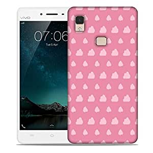 Snoogg Pink Clouds Designer Protective Phone Back Case Cover For Vivo V3 Max