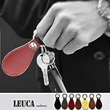 【LEUCA 本革 軽量 靴べらキーホルダー (09.ブラック)】LE-C001 レザー 牛革 革 日本製 名刺入れ|IDケース|定期入れ|財布 男性 女性 彼女