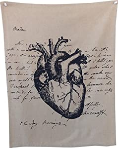 """Anatomical Heart"" Tea Towel 100% Linen Made in LA"