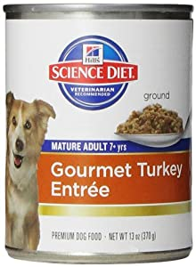 Hill's Science Diet Mature Adult Gourmet Turkey Entree Dog Food, 13-Ounce Can, 12-Pack