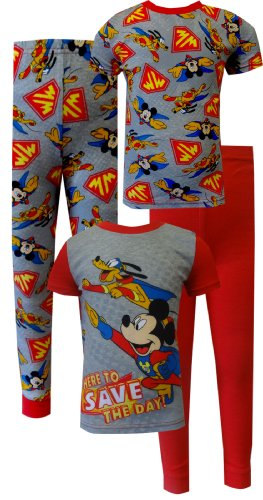 Mickey Mouse & Pluto Save The Day 4 Piece Toddlers Pajamas For Boys (4T) back-778722