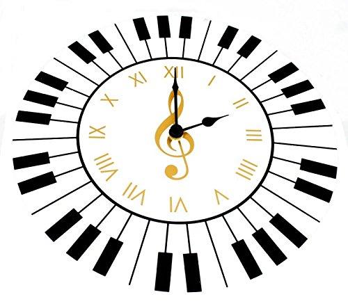 Wanduhr-Tastatur-Schnes-Geschenk-fr-Musiker