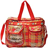 Bazaar Pirates Mama's First Choice Baby Diaper Bag & Kids Luggage Bag Teddy Bear Print Imported Fabric ( Red )
