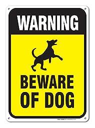 Warning Beware of Dog Sign - Large Beware of Dog Legend \