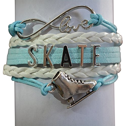 Figure Skating Jewelry- Girls Figure Skating Bracelet - Perfect Figure Skating Gifts (Ice Skating Gifts For Girls compare prices)