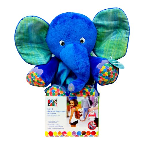 Review Eric Carle Backpack Harness, Elephant