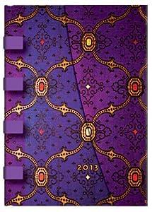 Paperblanks Kalender 2013 Seidenpracht Veilchen midi vertikaler Wochenüberblick