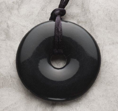 Details for Smart Mom Teething Bling Donut Shaped Pendant Necklace (Onyx) from Smart Mom
