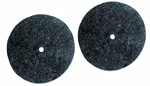 Koblenz Genuine Felt Buffing Pads Pack of Two Pads and Two Plastic Retainers