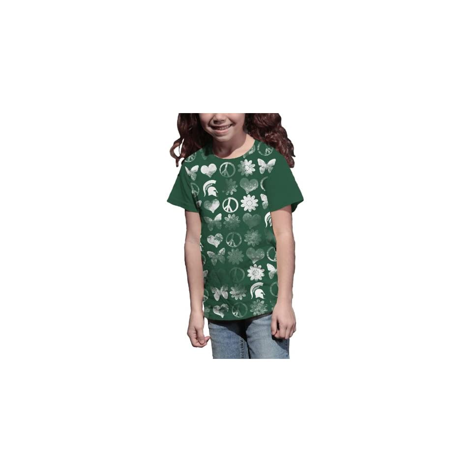 4fa5318ca NCAA Michigan State Spartans Hello Kitty Pom Pom Girls Crew Tee Shirt