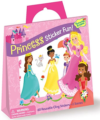 Peaceable Kingdom Sticker Fun! Princess Reusable Sticker Tote