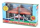 Melissa & Doug Skyline Suspension Bridge - A Great Addition To Extend Imaginative Railway Play Toy / Game / Play / Child / Kid