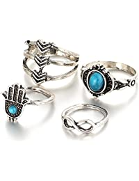 "Hot And Bold ""Oxford Street Edition"" Gypsy 4 Set Finger / MIDI Rings For Women & Girls"