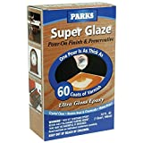 Rust-Oleum Parks Super Glaze, 241352 Ultra Glossy Epoxy Finish and Preservative Kit, Clear 32 Fl Oz - 3 Pack (Color: Clear, Tamaño: 3 Pack)