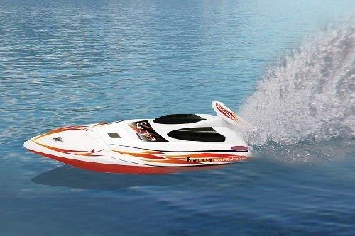 RC Boot / Speedboot / Yacht – RTR – ferngesteuert inkl. Fernbedienung – einfach zu steuern – Farbe: Schwarz/weiß/gelb – Modell 2013 bestellen