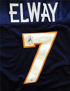 John Elway Autographed Hand Signed Denver Broncos Blue Jersey PSA DNA #C14656 by Hall of Fame Memorabilia