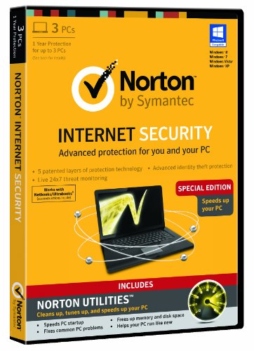 Norton Internet Security 3 Computers - 1 Year Subscription and Norton Utilities - Special Edition (PC)