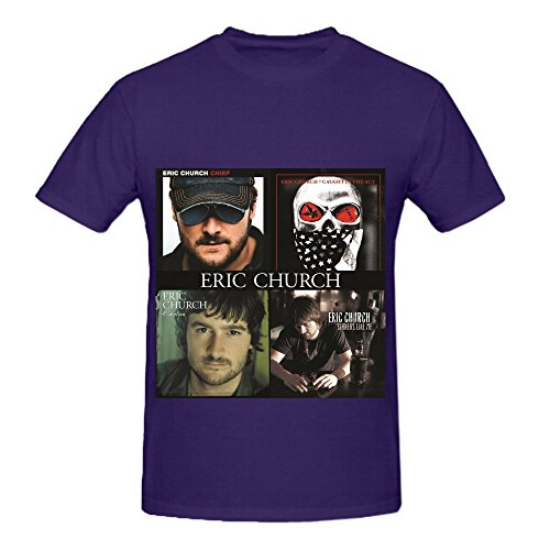 Eric Church Chief Caught In The Act Carolina Sinners Like Me Men Crew Neck Casual Tee Purple (Ohio St National Champion 2015 compare prices)
