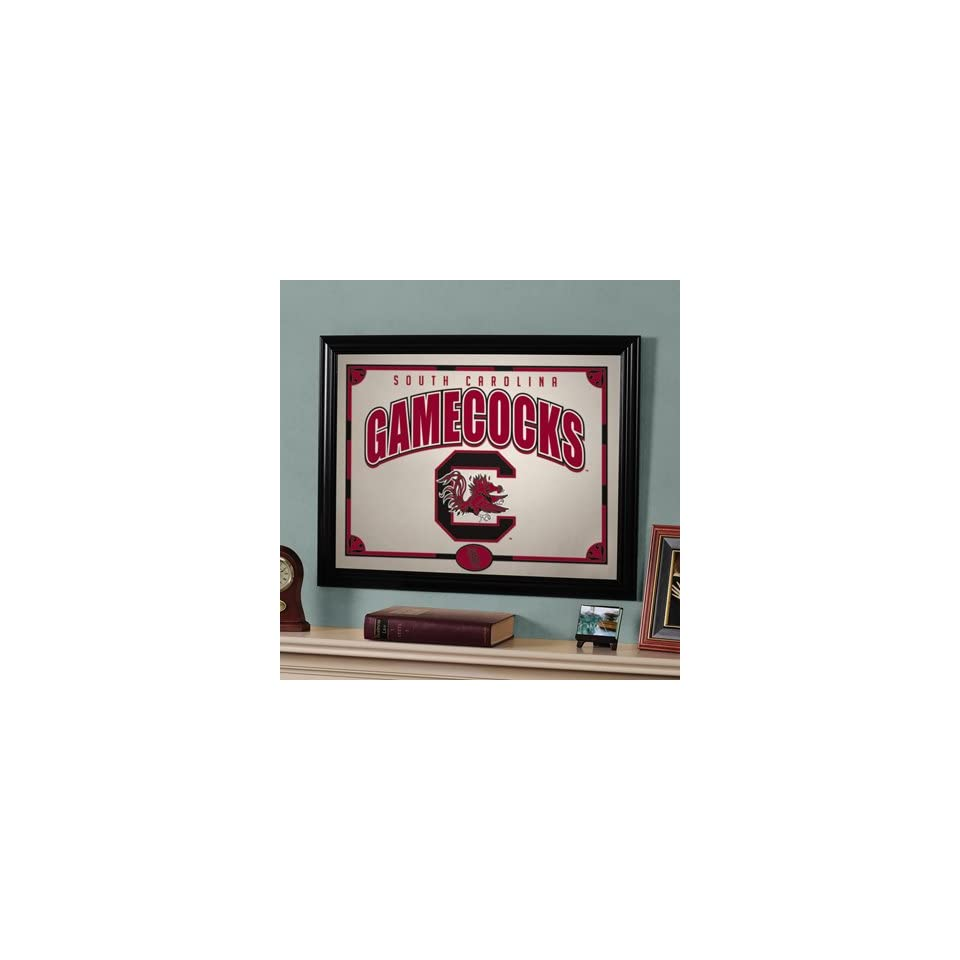 22 NCAA South Carolina Gamecocks Logo Framed Mirror