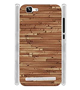 Wooden Floor Texture Soft Silicon Rubberized Back Case Cover for Vivo X5 Max