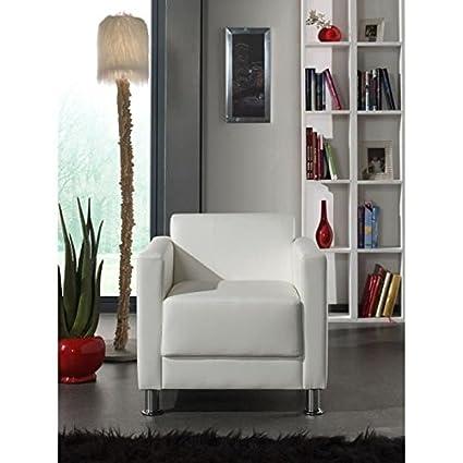 CUTE - Silla, piel sintética, color blanco