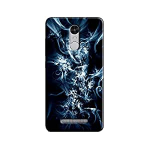 ABSTRACT BLUE BACKGROUND BACK COVER FOR XIAOMI REDMI NOTE 3