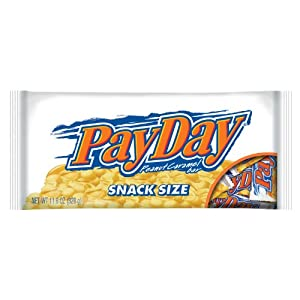 PayDay Peanut Caramel Snack Size Bars, 11.6-Ounce Packages (Pack of 6)