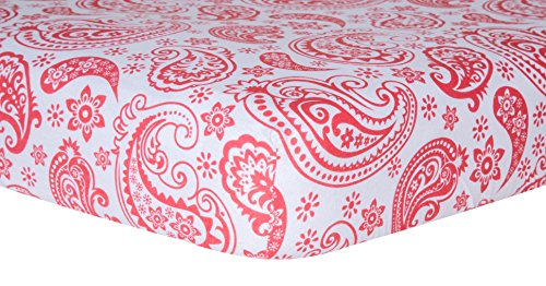 Trend Lab Crib Sheet, Coral Paisley