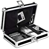 Vaultz Locking Gadget Box, Black with Chrome Accents, 5.5 x 8.25 x 2.25 Inch - Exterior Dimensions (VZ01269)