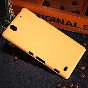 CZap Tough Case Hard Matte Rubberized Back Cover for Sony Xperia C4 - Yellow