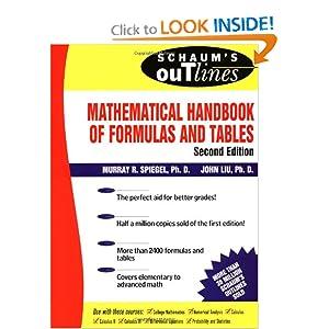 Schaum's Mathematical Handbook of Formulas and Tables - Murray R Spiegel