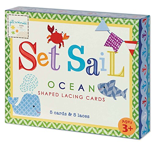 C.R. Gibson Set Sail Lacing Cards Set by Jill McDonald Kids - 1