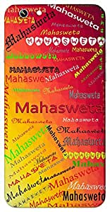 Mahasweta (Goddess Saraswati) Name & Sign Printed All over customize & Personalized!! Protective back cover for your Smart Phone : Samsung Galaxy A-3