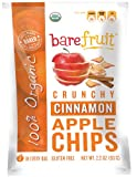Bare Fruit Organic, Gluten Free Baked Cinnamon Apple Chips, 2.2-Ounce Bags (Pack of 12)