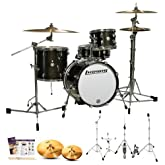 Ludwig LC179X016 Breakbeats by Questlove Black Sparkle 4-Pc Shell Pack w/ Zildjian ZBT Cymbals, Hardware, Survival Guide & Drumsticks