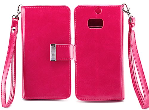 Mylife (Tm) Rose Pink {Smooth Color Design} Faux Leather (Card, Cash And Id Holder + Magnetic Closing) Slim Wallet For The All-New Htc One M8 Android Smartphone - Aka, 2Nd Gen Htc One (External Textured Synthetic Leather With Magnetic Clip + Internal Secu